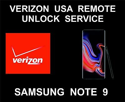 Verizon USA Samsung Remote Unlock Service For Note 9, All Versions Supported