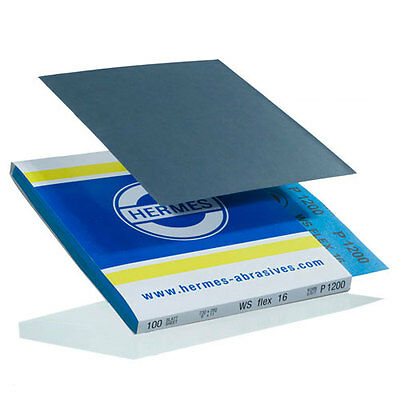 9x11 Sanding Sheet, 1200 Grit, WSFlex16, by Hermes Abrasives - Lot of 25 sheets