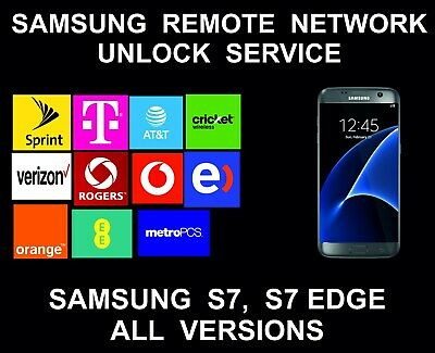 Samsung S7, S7 Edge Remote Unlock Service, AT&T, Sprint, Verizon, T-Mobile, Metr