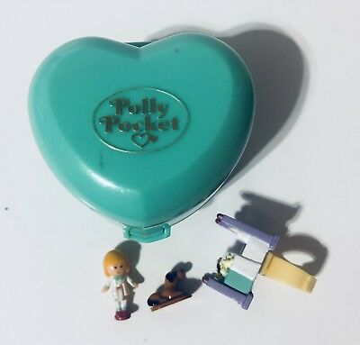 Vintage Polly Pocket Bluebird 1991 Midges Bedtime Ring Case Complete G1 Rare