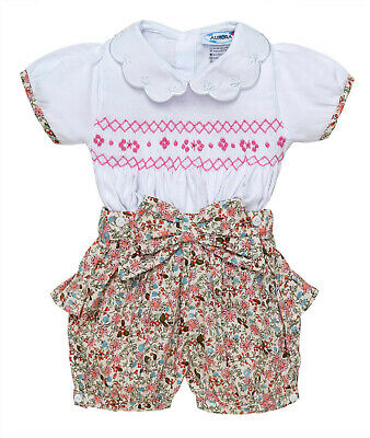 "Aurora Royal "" Jasmine "" Traditioanal Hand-Smocked Outfit. LIMITED"