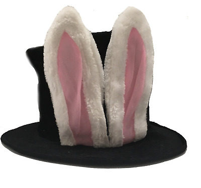 25abce246e5 White Rabbit Ears Hatter Top Hat Halloween Costume Party Adult Sized Crazy  Fun