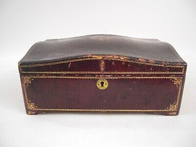Large Italian Leather Jewlery Box Velvet Interior French Italian Grand Tour Styl
