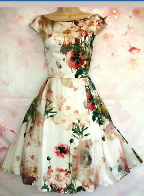 d87155a9085 BNWOT TED BAKER 'Rupin' Opulent Bloom Print Silky Occasion Dress 12 (Ted  Size
