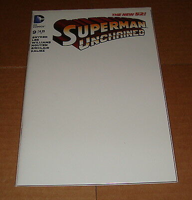 Superman Unchained #9 Blank Sketch Variant Edition 1st Print Jim Lee