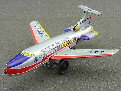 Ichimura Japan Boeing 727 AA American Airlines tin Airplane 1604-25-15