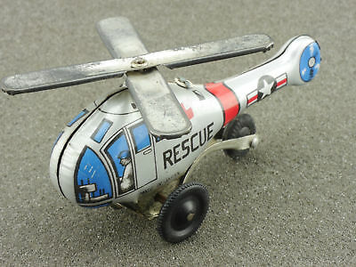 Japan Hubschrauber Helicopter US Rescue Blech tin litho toy 1604-25-22