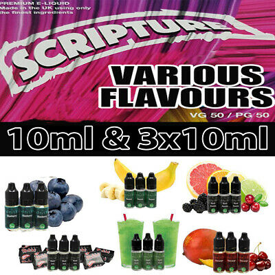 Scripture E Liquid 3x10ML 50-50 Premium Juice Suitable for All Vape Devices