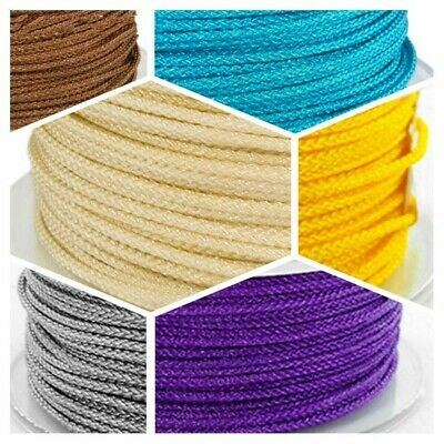 Nylon Cord 1/1.5mm Braided Silk Thread Macrame Cord DIY String Strap Rope Beads