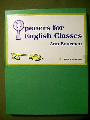 Openers for English Classes by Ann Bourman (90 Cards)