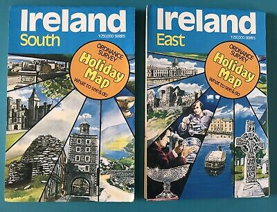 Ordnance Survey Holiday Maps Ireland South And East 1:250,000