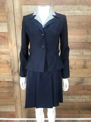DBY Ltd. Women's JR New With Tags Blue 2 Piece Pleated Skirt Suit Set Size 3 NWT