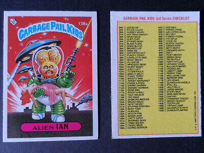 TOPPS GARBAGE GANG/ PAIL KIDS UK (IRELAND) 1986 SERIES 3 STICKER 138A checklist