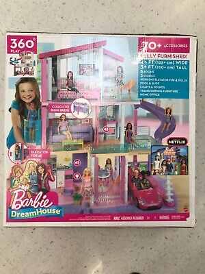 Barbie Dreamhouse with 70+ Accessories, Brand New, Factory Sealed In Box