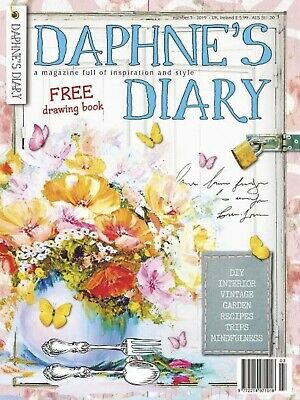 DAPHNE'S DIARY 2019: Number 3 - Free Drawing Book Air Freight Issue New