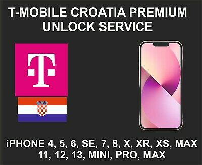 T-Mobile Croatia Premium Unlock Service, fits iPhone 5, 6 7, 8, X, XR XS 11 Pro