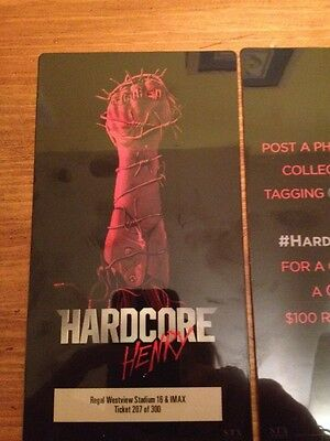 Hardcore Henry EXCLUSIVE REGAL THEATER  Numbered ___ Of 300 PROMOTIONAL TICKETS
