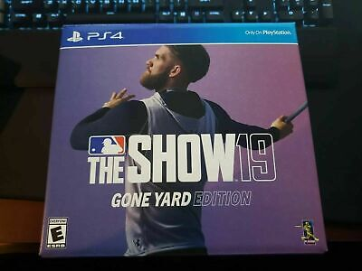 MLB The Show 19 GONE YARD Edition For PS4 New Sealed Free Cap Pre-Order DLC NIB