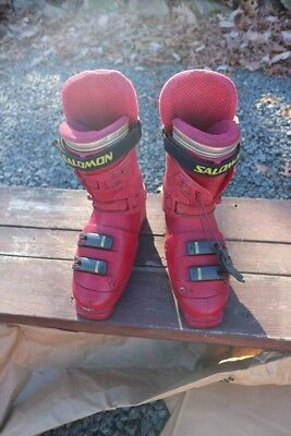 Details about Salomon Integral Equipe 7.0 RedGrey Size 311mm Used Downhill Ski Boots