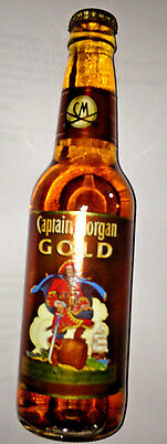 RARE Vintage Captain Morgan GOLD Rum Pirate Bottle of Discontinued Spice Cola
