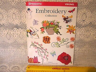 Viking Husqvarna Embroidery Collection Vol. 6  full color catalog - Softcover
