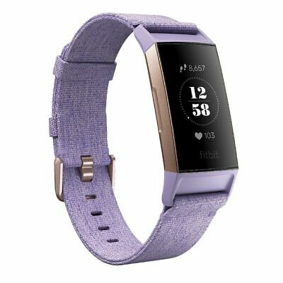 Fitbit Charge 3 Advanced Activity Tracker Rose Gold/Lavender