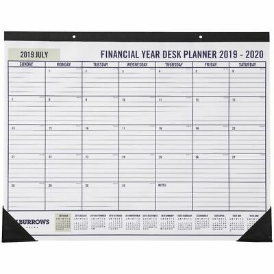 J.Burrows Monthly FY19/20 Year Desk Planner 550x430mm