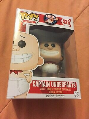 Funko Pop Movies Captain Underpants vaulted retired