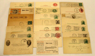 Lot Of 21 Postal Cards / Postcards With Advertising / Reply Requests 1900'S