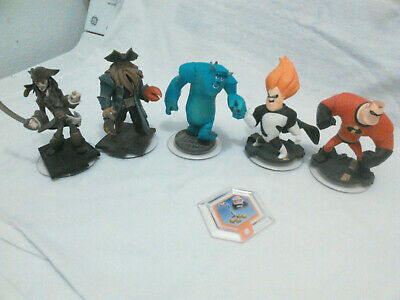 Disney Pixar's Infinity Characters 6 PCS Sparrow,Incredibles,Sully,Syndrome