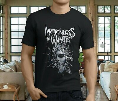 New MOTIONLESS IN WHITE Metalcore Band Chris Cerulli Men's Black T-Shirt S-3XL