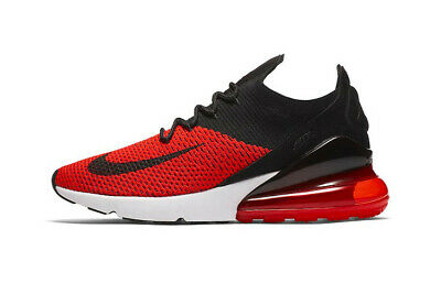 Nike Air Max 270 Flyknit Men Running Chile Red//Black//White Mult Size AO1023 601