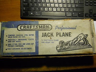 "Vintage 1951  Craftsman Jack Plane in Box 2"" Cutter 14"" Long 3743"