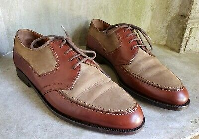 BRUNO MAGLI RINALDO brown leather & taupe suede lace up