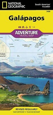 National Geographic Galapagos Islands South America Adventure Travel Map 3408