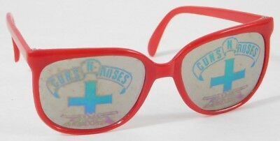 1 VINTAGE Guns N Roses SUNGLASSES Red Reflective logo Style RARE 1980's AXL ROSE
