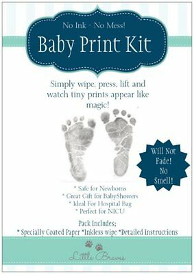 Baby Inkless Hand and Foot Print Kit ~ Extra Paper