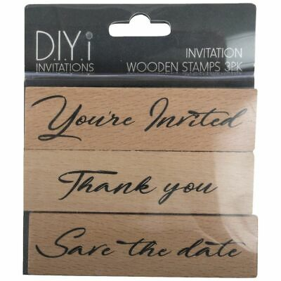 DIYi Wooden Stamps Invitation 3 Pack
