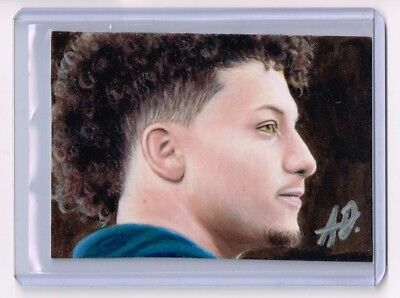 2018 Aceo Sketch Card Patrick Mahomes Kansas City Chiefs 1 1