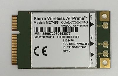 SIERRA WIRELESS AIRPRIME MC7455 4G LTE GPS WWAN Mobile