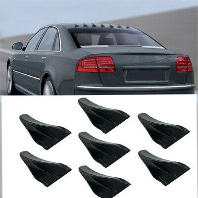 6 PC AIR VORTEX GENERATOR//DIFFUSER FIN SET//KIT FOR SPOILER ROOF WING TRUNK Z7