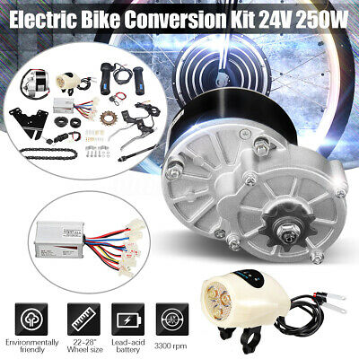 24/36V 250W Electric Bicyle Conversion Motor Controller Kit For 22-28'' Bike