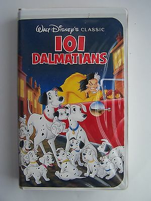 Walt Disney's 101 Dalmatians Black Diamond Classic VHS Video Tape