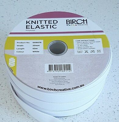 Elastic - knitted-  3mm -6mm-9mm-12mm 20mm  Birch Brand top quality