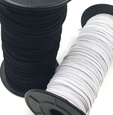 Elastic - Braided- 3mm & 6mm Black or White - Birch Brand top quality
