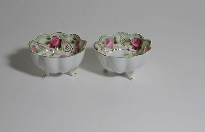 Bowls,Japanese,Antique,1866-1912Footed,Berry,Morimura/Noritake,Fluted Delicate