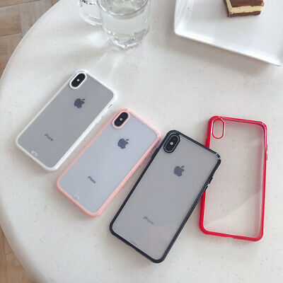 For iPhone Case Shock Proof Crystal Clear Soft Silicone Gel Bumper Cover Slim