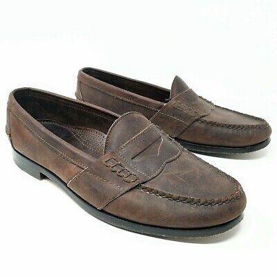 e5cd0dfd394 Cole Haan Country Mens Penny Loafers Size 10.5 D Hand Sewn Brown Leather