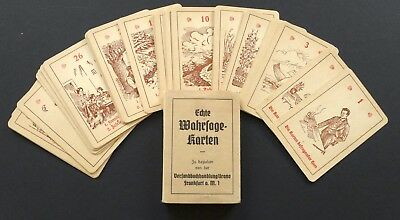 Antique Fortune Telling Oracle Cards Germany