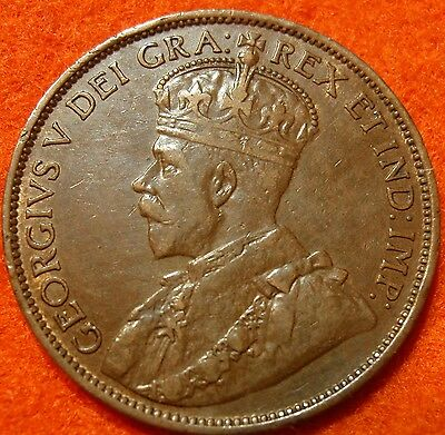 1912 AU-XF CANADA LARGE CENT George V COIN NoRes CANADIAN <--
